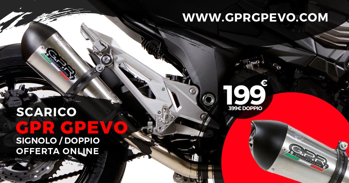 GPR Tubo de Escape Hom Furore Negro Yamaha WR 125 R 2009 09 2010 10 2011 11